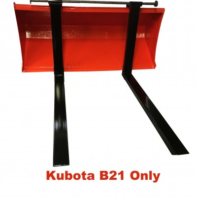 Kubota B21 fourches attachement rapide